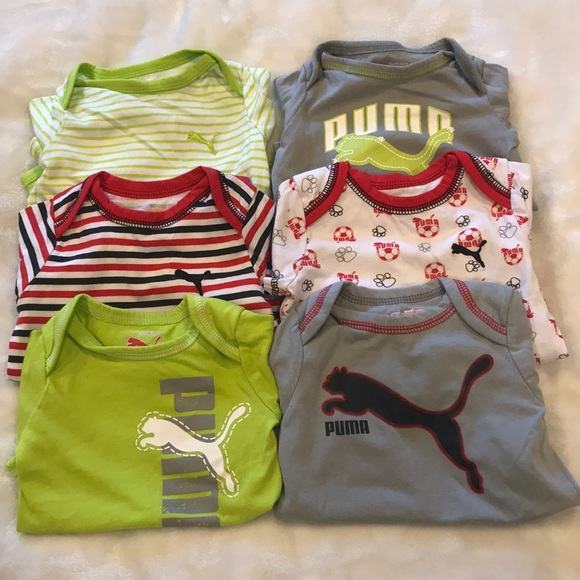 Puma bundle of six onesies for 6-9 months old boy